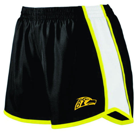 RD Hawks Ladies Colorblock Shorts- BLACK
