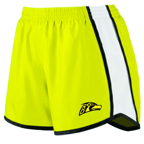 RD Hawks Ladies Colorblock Shorts- YELLOW