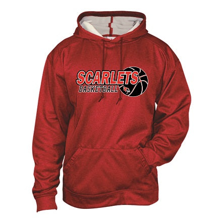 RP Scarlets Basketball Performance Heather Hoodie