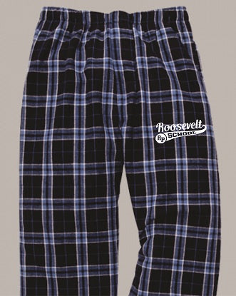 Roosevelt School Flannel Pants- NAVY/SKY