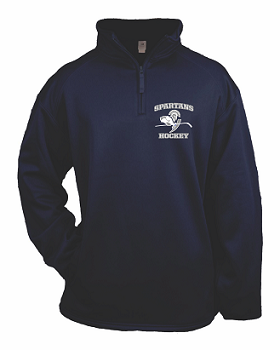 Paramus Hockey Performance 1/4 Zip- NAVY