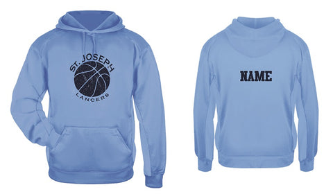 St. Joe's Basketball Performance Hoodie- CAROLINA BLUE