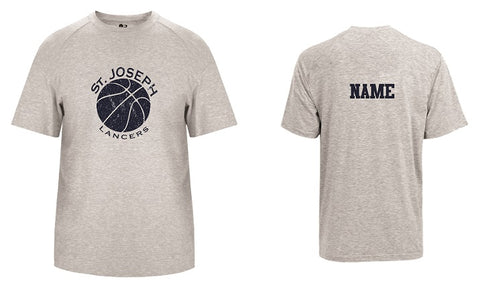 St. Joe's Basketball Performance Tech Tee- GREY