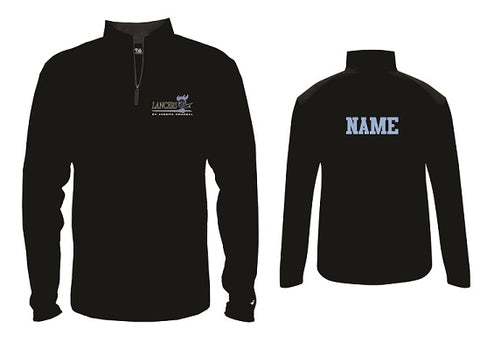 St. Joe's Basketball 1/4 Zip Pullover- BLACK