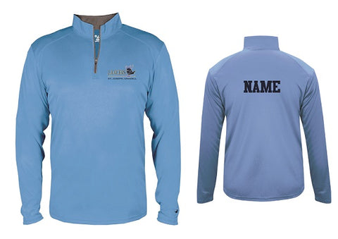 St. Joe's Basketball 1/4 Zip Pullover- LIGHT BLUE