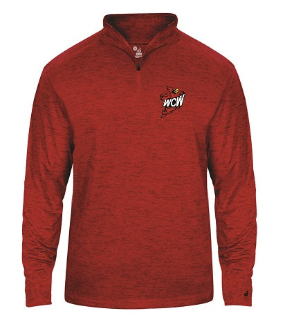 WCW Tonal Blend 1/4 Zip Pullover- available in RED and BLACK