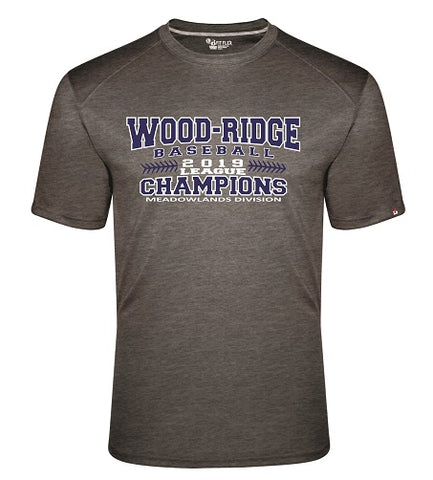 W-R Baseball 2019 League Champs Fit Flex Performance Tee- Available in 2 Colors