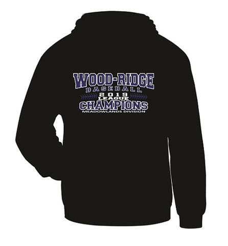 W-R Baseball 2019 League Champs Hoodie- Available in 3 Colors