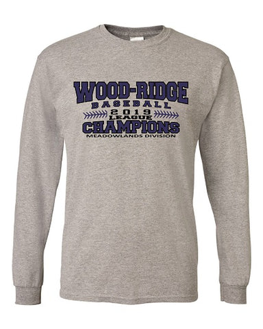 W-R Baseball 2019 League Champs Longsleeve Tee- Available in 3 Colors