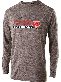 Falcons Baseball Electrify Longsleeve Performance Tee- AVAILABLE IN 3 COLORS