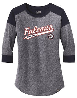 Falcons Baseball Ladies 3/4 Sleeve Shirt
