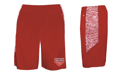 Falcons Baseball Pocketed Performance Shorts- RED