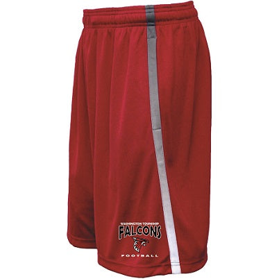 WT Falcons Football Avalanche Shorts- RED
