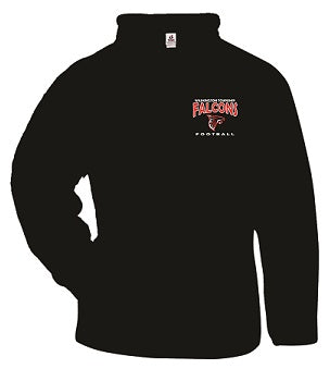 WT Falcons Football Performance 1/4 Zip Fleece- BLACK