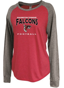 WT Falcons Football Ladies Raglan Jersey