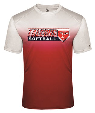 Falcons Softball Two-Tone Performance Tee- Available in 2 Colors