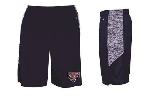 Falcons Softball Pocketed Performance Shorts- NAVY BLUE