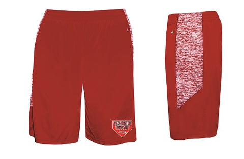 Falcons Softball Pocketed Performance Shorts- RED