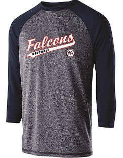 Falcons Softball Typhoon 3/4 Sleeve Performance Shirt- AVAILABLE IN 2 COLORS