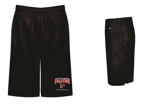 WT Falcons Football Tonal Blend Shorts- BLACK
