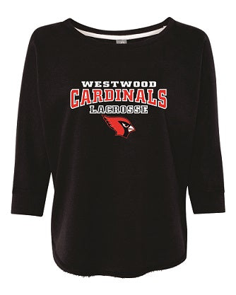 Westwood Girls Lacrosse 1/2 Sleeve Crew- Available in 2 Colors