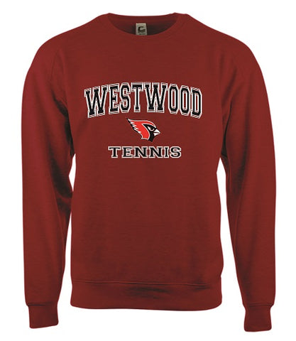 Westwood Tennis Crewneck Sweatshirt- RED