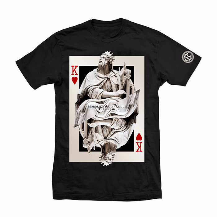 King of Hearts Tee - RED/BLK