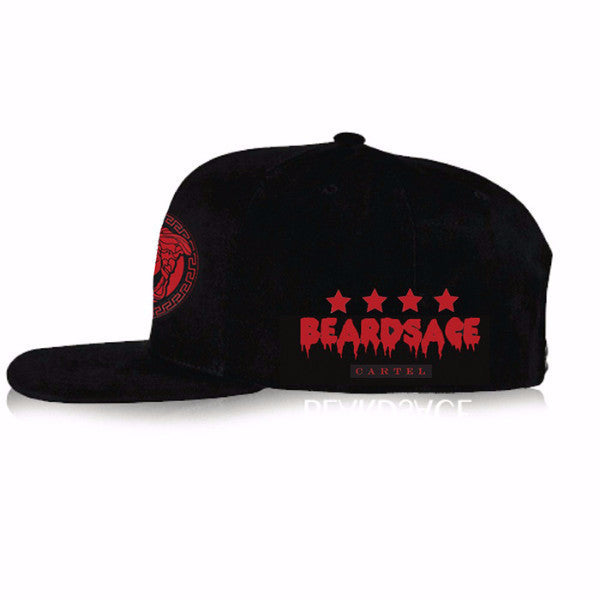 Black Snap Back with Red Classic Logo