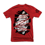 Shattered Tee  - OLV/RED
