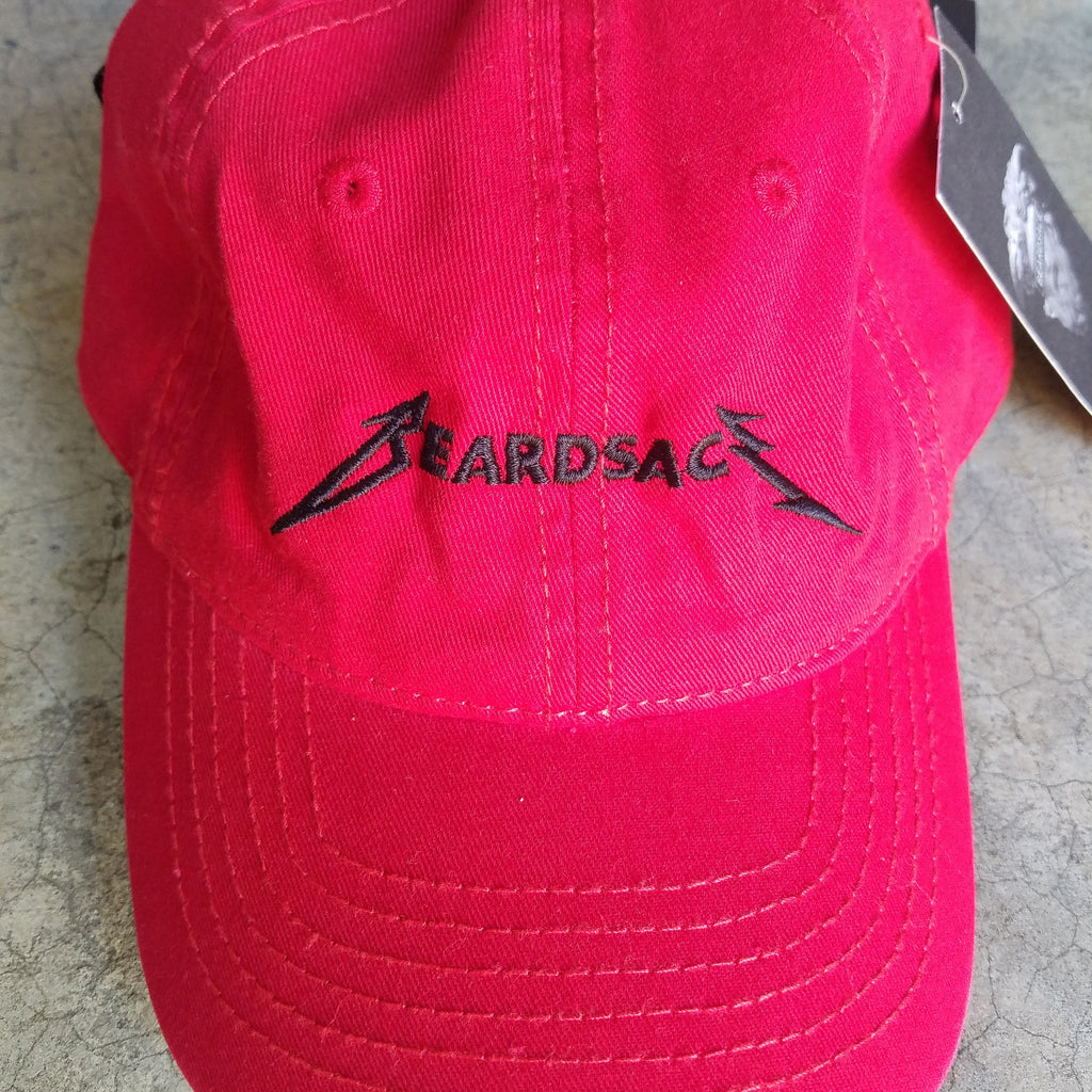 Beardsace Rocker Dad Hat - Red