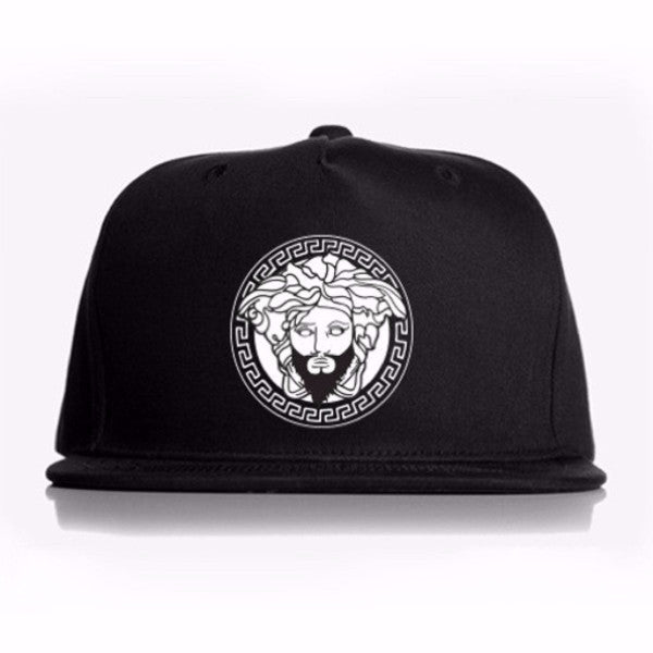 Black Snap Back with White Classic Logo