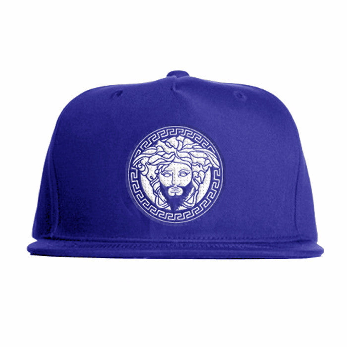 Blue Snap Back with White Classic Logo