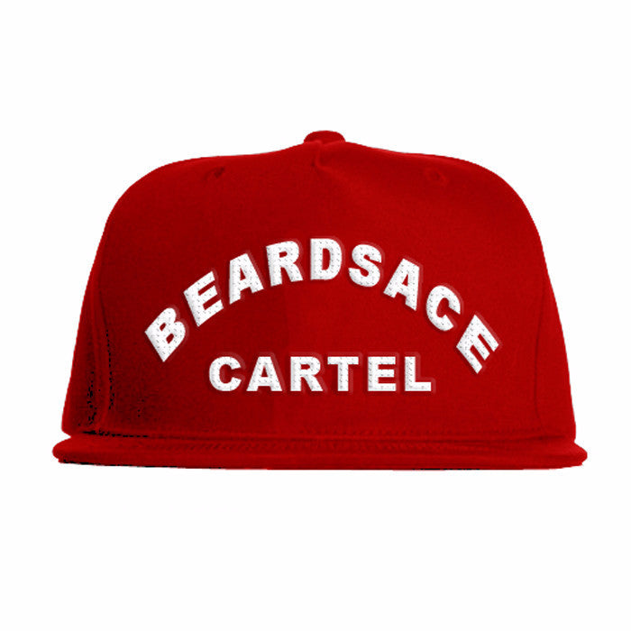 Red Snap Back with Beardsace Cartel