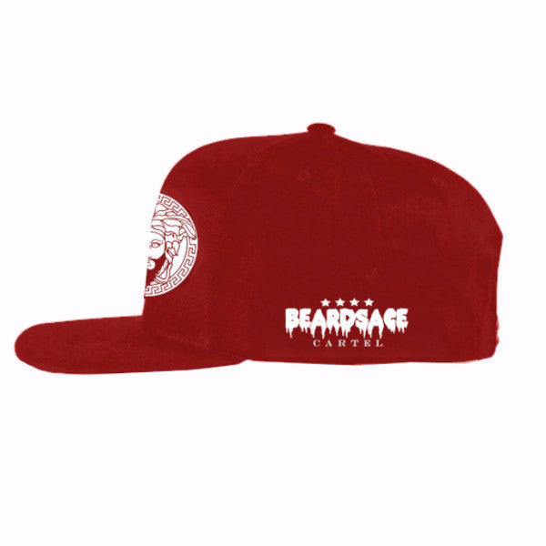 Red Snap Back with White Classic Logo