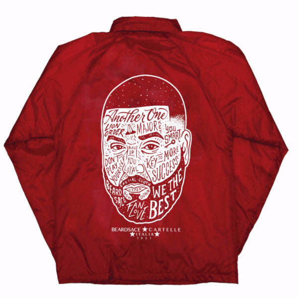 DJ Khaled x Beardsace Collab Wind Breaker - Red