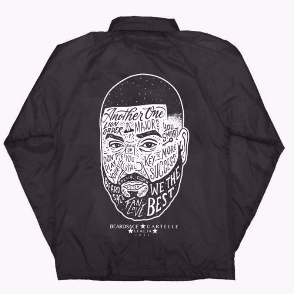 DJ Khaled x Beardsace Collab Wind Breaker - Black