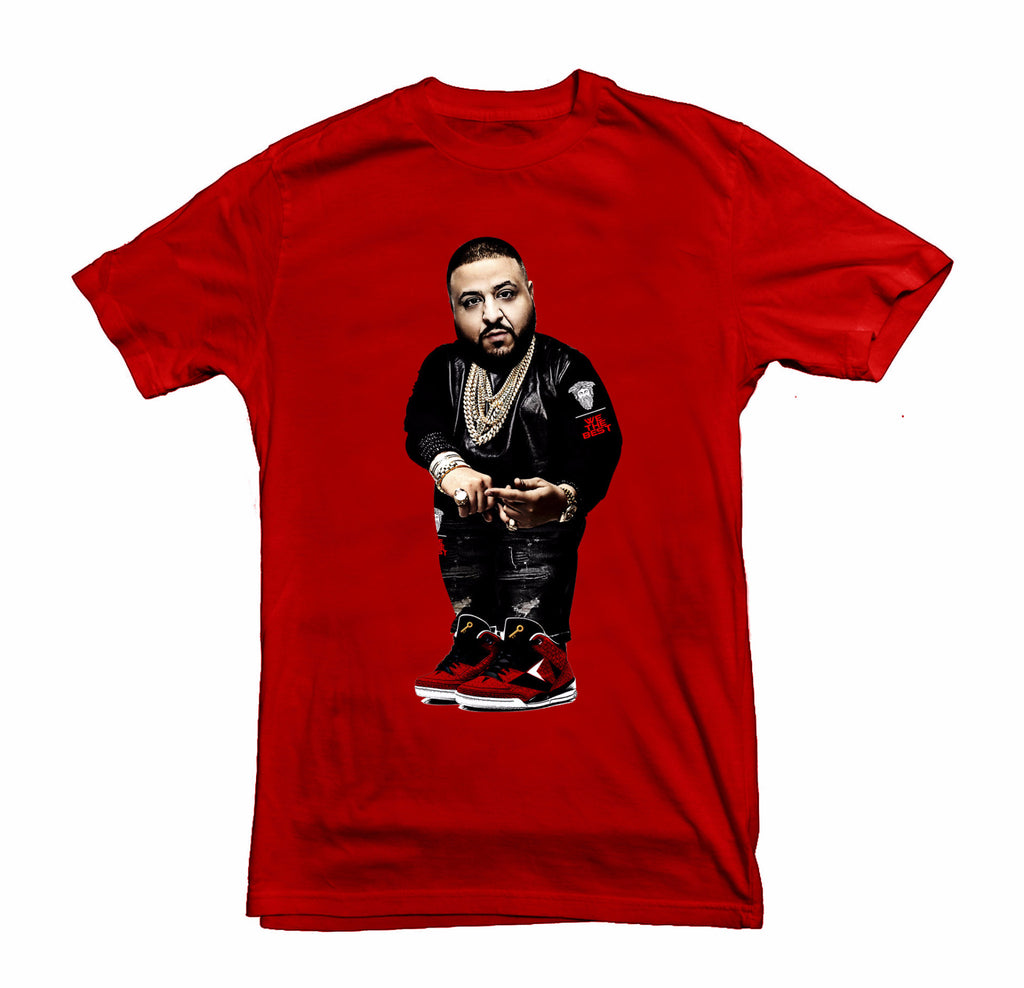 Dj Khaled Bear Tee  - RED/WHT