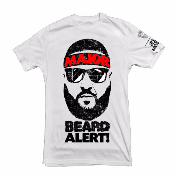 Dj Khaled Major Beard Alert Tee - H.GRY/WHT