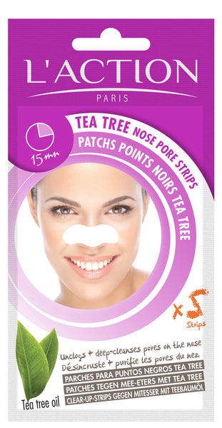 Tea Tree Nose Pore Strips x 5
