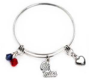 Ole Miss Rebels Bangle Bracelet