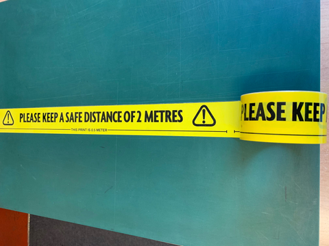 Social Distance Warning Floor Marking Tape