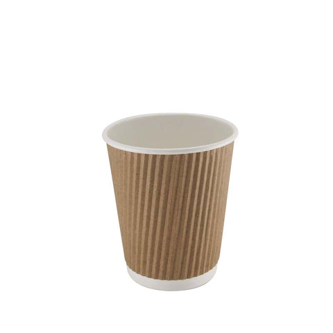 8oz-HC12BN1 kraft-Brown-tripple-ripple-coffee-cup-Carabay-Catering-Supplies