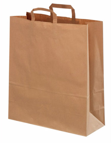 Brown Paper Bags Carrier Bags - Variety of Sizes - TopCraft Handles