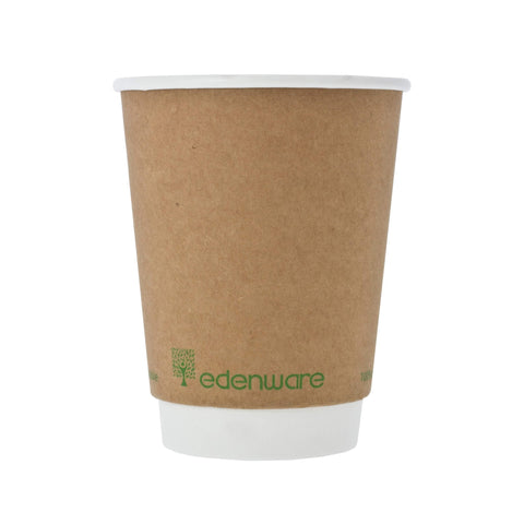 Kraft Compostable Cup | 12oz Double Walled