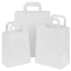 Cheap Paper Bags - Tree Saver White Carrier Bags (Qty:250)