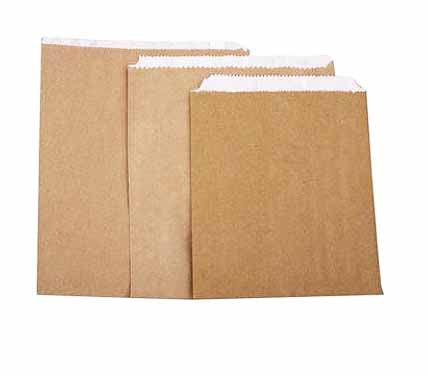 brown Greaseproof Paper Bag (1000) - Food Packaging - Catering Disposables