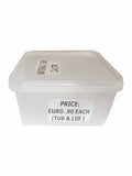 Large Plastic Tubs - Food Packaging - Catering Disposables 2.4l