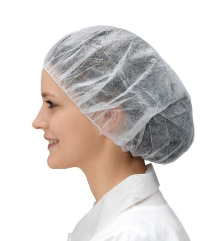 Cleanroom Bouffant Cap | White