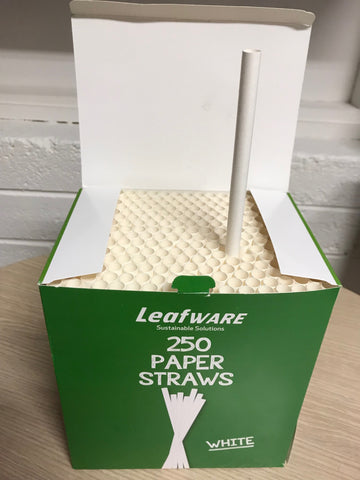 Paper Straw 10mm diameter white