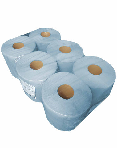 Paper Towels - Blue Hand Towels - Catering Disposables (QTY 6)